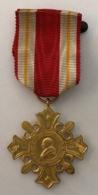 Médaille. Vatican WW1 Pro Ecclesia Pontifice Gold Cross 1888. Pape Léo XIII. Métal Doré. Avec La Boîte. - Italie