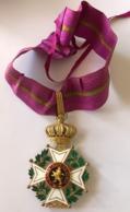 Cravatte De L'ordre De Léopold Ier - Royal / Of Nobility