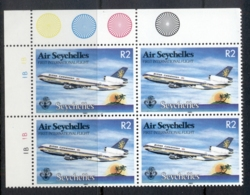 Seychelles 1983 Seychelles Air First International Flight Blk4 MUH - Seychelles (1976-...)