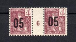 !!! PRIX FIXE : INDOCHINE, N°59 EN PAIRE AVEC MILLESIME 6 NEUVE ** - Unused Stamps