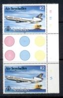 Seychelles 1983 Seychelles Air First International Flight Gutter Pr MUH - Seychelles (1976-...)