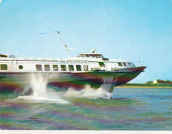 Romania Uncirculated Postcard - Ships - Poseidon Hydrofoil Passenger Ship On Danube - Tankers