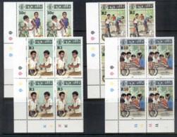 Seychelles 1985 International Youth Year Blk4 MUH - Seychelles (1976-...)