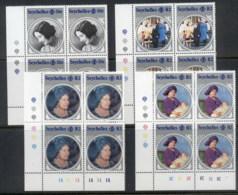 Seychelles 1985 Queen Mother 85th Birthday Blk4 MUH - Seychelles (1976-...)