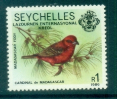 Seychelles 1986 Bird, Opt Intl. Creole Day MUH - Seychelles (1976-...)