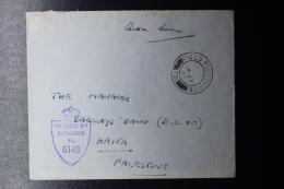 Palestine: 14-7-1945 Cover Haifa, Field Post Office  P/mk Nr 731,  Censor - Palestine