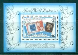 Seychelles 1990 Penny Black 150th Anniv, Stamp World London '90 MS MUH - Seychelles (1976-...)