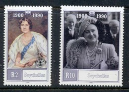 Seychelles 1990 Queen Mother 90th Birthday MUH - Seychelles (1976-...)