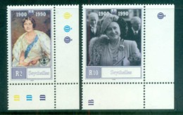 Seychelles 1990 Queen Mother 90th Birthday MUH Lot81239 - Seychelles (1976-...)