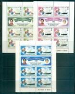 Seychelles ZES 1981 Charles & Diana Royal Wedding Sheetlet 3x MUH Lot81899 - Seychelles (1976-...)
