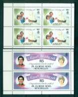 Seychelles ZES 1981 Charles & Diana Wedding 2x Booklet Pane MUH Lot45249 - Seychelles (1976-...)