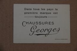 Carte Publicitaire Chaussures Georges, Inde - Chromos