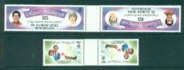 Seychelles ZES 1981 Charles & Diana Wedding Gutter Prs. Tete Beche MUH Lot45255 - Seychelles (1976-...)