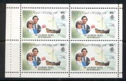 Seychelles ZES 1981 Royal Wedding Charles & Diana Booklet Pane 40c MUH - Seychelles (1976-...)