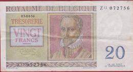 20 Frank 1956 Twintig Koninkrijk Royaume De Belgie Belgique Belgium Vingt Francs Oud Bankbiljet Old Banknote Billet - [ 2] 1831-... : Belgian Kingdom