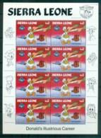 Sierra Leone 1984 Disney, Donald Gets Drafted Sheetlet MUH Lot78968 - Sierra Leone (1961-...)