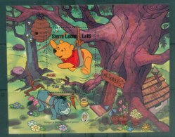 Sierra Leone 1985 Disney, Mark Twain, Pooh MS MUH Lot77496 - Sierra Leone (1961-...)