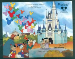 Sierra Leone 1987 Disney, Tokyo Disneyland MS MUH Lot77495 - Sierra Leone (1961-...)