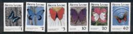 Sierra Leone 1987-89 Butterflies, 1989 Dated MUH - Sierra Leone (1961-...)