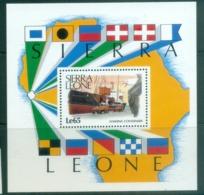 Sierra Leone 1988 Merchant Marine, Ships, Birds MS MUH - Sierra Leone (1961-...)