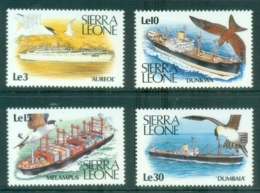 Sierra Leone 1988 Merchant Marine, Ships, Birds MUH - Sierra Leone (1961-...)