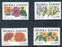 Sierra Leone 1993 Flowers 4v. 100,200,250,300Le MUH - Sierra Leone (1961-...)