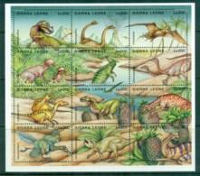 Sierra Leone 1995 Dinosaurs(12) MS MLH - Sierra Leone (1961-...)