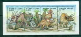 Sierra Leone 1995 Dinosaurs(4) MS MLH - Sierra Leone (1961-...)