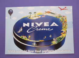 NIVEA CREME BEIERSDORF HAMBURG GERMANY POSTCARD PICTURE ADVERTISING DESIGN ORIGINAL PHOTO POST CARD PC STAMP - Advertising