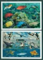 Sierra Leone 1995 Marine Life, Singapore '95 2x MS MLH - Sierra Leone (1961-...)