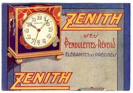 ZENITH SES PENDULETTES REVEILS   - TRES BELLE ILLUSTATION  PUBLICITE - Pubblicitari