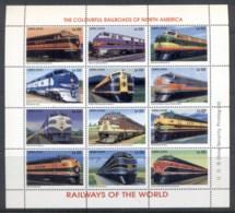 Sierra Leone 1995 Railways Of The World, Colourful Railroads Of North America Sheetlet MUH - Sierra Leone (1961-...)