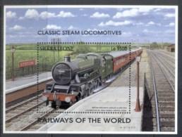 Sierra Leone 1995 Trains, Jubilee Class MS MUH - Sierra Leone (1961-...)