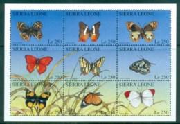 Sierra Leone 1996 Butterflies (9) MS MLH - Sierra Leone (1961-...)
