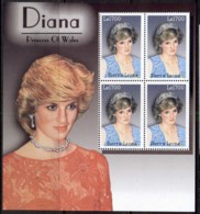 Sierra Leone 1997 Princess Diana In Memoriam MS MUH - Sierra Leone (1961-...)