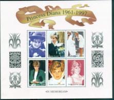 Sierra Leone 1998 Princess Diana In Memoriam, Princess Of Wales MS MUH - Sierra Leone (1961-...)
