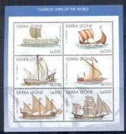 Sierra Leone 1998 Ships Of The World Sheetlet MUH - Sierra Leone (1961-...)