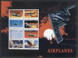 Sierra Leone 1999 Airplanes, Stealth Bomber Sheetlet MUH - Sierra Leone (1961-...)