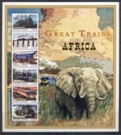 Sierra Leone 1999 Great Trains Of Africa, Elephants, Blue Train MS MUH - Sierra Leone (1961-...)
