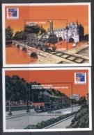 Sierra Leone 1999 Trains, Philexfrance 2xMS MUH - Sierra Leone (1961-...)