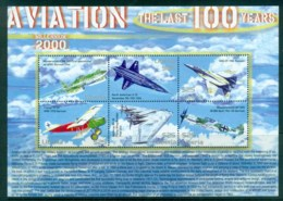 Sierra Leone 2000 Aviation , The Last 100 Years MS MUH - Sierra Leone (1961-...)