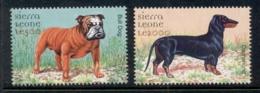 Sierra Leone 2000 Dogs (2) MUH - Sierra Leone (1961-...)