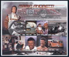 Sierra Leone 2000 Motor Racing, Mario Andretti MS MUH - Sierra Leone (1961-...)