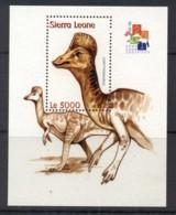 Sierra Leone 2001 Prehistoric Animals, Dinosaurs MS MUH - Sierra Leone (1961-...)