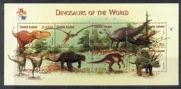 Sierra Leone 2001 Prehistoric Animals, Dinosaurs Sheetlet MUH - Sierra Leone (1961-...)