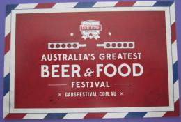 AUSTRALIA BEER FOOD FESTIVAL SYDNEY MELBOURNE POSTCARD PICTURE ADVERTISING DESIGN ORIGINAL PHOTO POST CARD PC STAMP - Advertising