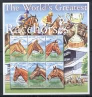 Sierra Leone 2001 World's Greatest Race Horses, Arkle Sheetlet MUH - Sierra Leone (1961-...)