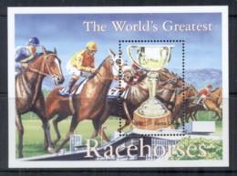 Sierra Leone 2001 World's Greatest Race Horses, Trophy MS MUH - Sierra Leone (1961-...)