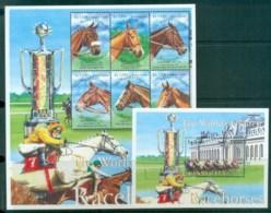 Sierra Leone 2001 Worlds Greatest Racehorses 2xMS (part Set) MUH Lot81736 - Sierra Leone (1961-...)