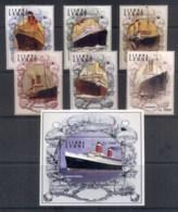 Sierra Leone 2004 Ocean Liners, Ships + MS MUH - Sierra Leone (1961-...)